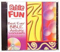 Best Ever Bible Activity Worksheets CDROM Win Mac