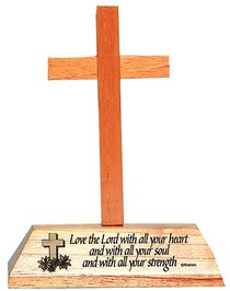 Cross on Stand: Love the Lord