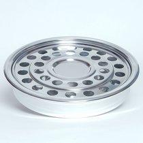 "Communion Tray Cup & Bread: Silvertone (12"") (Rw-508a) (Serves 32)"