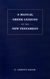 A Manual Lexicon of New Testament