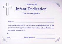 Infant Dedication Certificate - Boy
