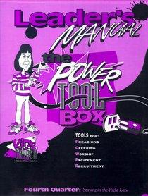Kids Church: Power Tool Box Q4 Leaders Manual