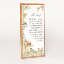 Country Plaque: Friendship is Precious Gift