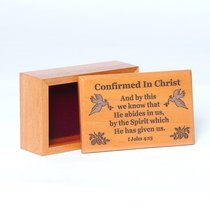 Wooden Box: Confirmed in Christ and By This We Know That