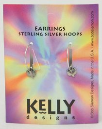 Earrings Kelly Design: Hoop Dove (Lead Free-pewter)