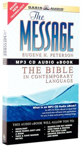 Message Complete Bible MP3 CD Audio Ebook