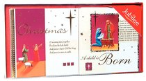 Christmas Boxed Cards: A Child is Born (Gold Foiled)