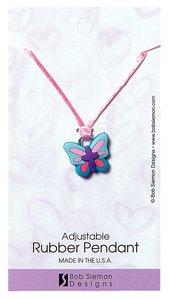Rubber Pendant: Butterfly 2 Corinthians 5:17 Adjustable Lace Cord