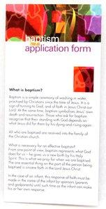 Infant Baptism Application Form