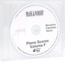 Rcm Volume F Full Piano Version on CDROM (Supp 33-37)
