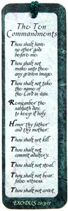 Tassel Bookmark: The Ten Commandments