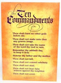 Poster Large: Ten Commandments