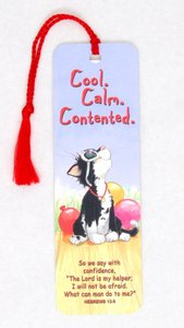 Tassel Bookmark: Cool. Calm. Contented.