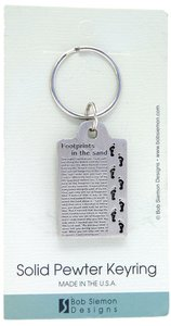 Keyring: Footprints (Pewter)