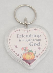Plastic Keyring: Friendship is a Gift From God