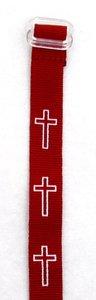 Wristband: Cross Maroon
