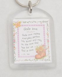 Plastic Keyring: Gods Love Makes Everyday Perfect