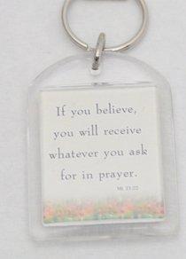 Plastic Keyring: Prayer Brightens Your Day