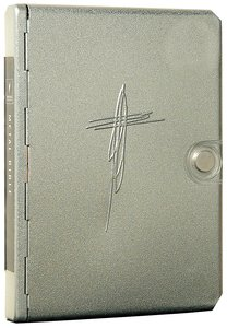 NLT Metal Bible Silver Cross (Black Letter Edition) (1st Ed.)