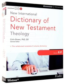 New International Dictionary of New Testament Theology 6.0 For Win CDROM