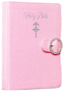 ICB Princess Bible Pink With Nagnetic Closure