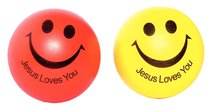 Squeeze Ball Pack of 2: Red & Yellow, Jesus Loves You