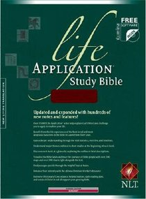 NLT Life Application Study Bible Burgundy