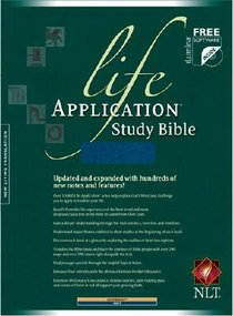 NLT Life Application Study Bible Navy Leatherlike (Red Letter Edition)