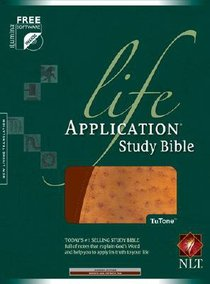 NLT Life Application Study Bible Bonded Tutone Brown/Ostrich Tan (Red Letter Edition)