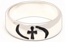 Ring: Cross/Waves Size 06 Sterling Silver