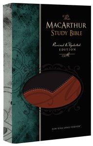NKJV Macarthur Study Bible Black/Terracotta (Black Letter Edition)