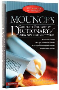 Buy mounces complete expository dictionary of old and new mounces complete expository dictionary of old and new testament words fandeluxe PDF
