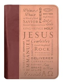 Bible Cover Duo-Tone Names of Jesus Large