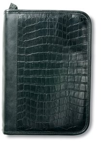 Bible Cover Alligator Leather-Look Black Large