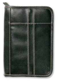 Bible Cover Distressed Leather-Look Black Extra Large
