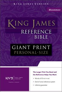 KJV Personal Giant Print Reference Bible Burgundy Indexed