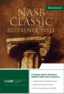 NASB Updated Edition Classic Reference Bible Black