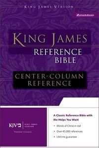 KJV Reference Bible Burgundy Indexed