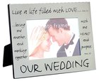 Pewter Frame: Our Wedding