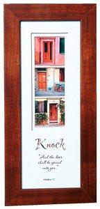 Stories Framed Plaque: Knock Matthew 7:7