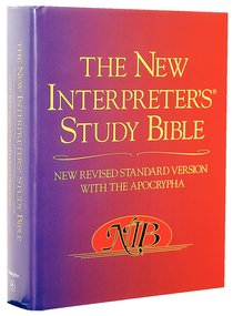NRSV New Interpreters Study Bible With Apocrypha