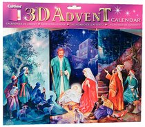 3d Fold Out Advent Calendar: Manger Scene With Pictures