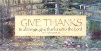 Easeled Magnet: In All Things, Give Thanks Unto the Lord (Eph 5:20)