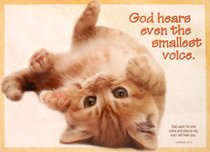 Poster Large: God Hears Even the Smallest Voice