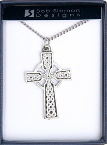 Pendant: Traditional Celtic Cross (Pewter)