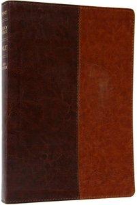 NLT Premium Slimline Reference Large Print Brown/Tan (Red Letter Edition)