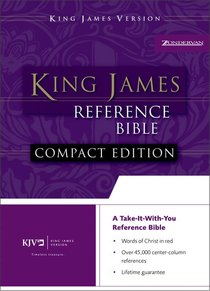 KJV Compact Reference Burgundy Button Flap