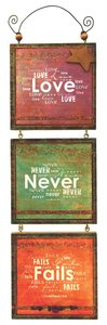 Youre My Star 3 Tier Mdf Plaque: Love Never Fails