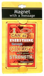 Large Acrylic Magnet: I Can Do Everything Through Christ