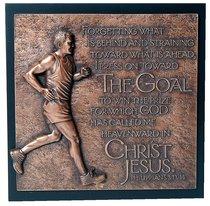 Runner Moments of Faith Sculpture Plaque
